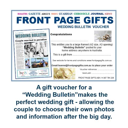 Wedding Bulletin voucher