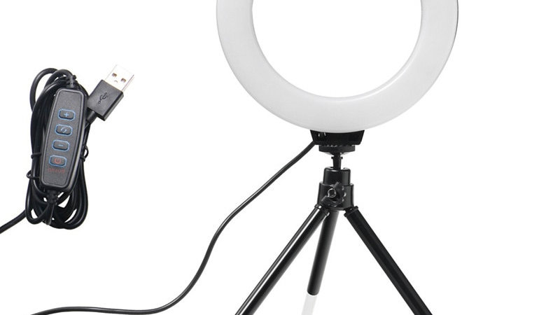 6' LED Light Selfie Lamp With Tripod for YouTube Tik Tok Live Photography Studio