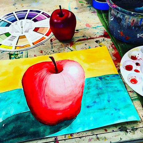 apple watercolor painting .JPG