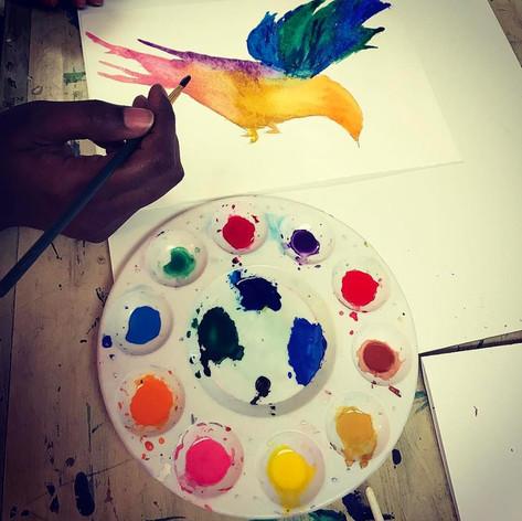 watercolor paint class near me