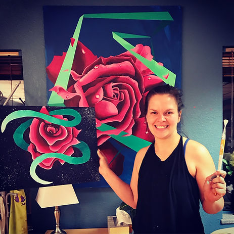 girl with rose painting like Shannon's.J