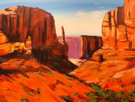 Desert Landscape Shadows