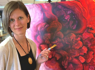 Michelle with red flower painting.png