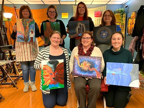 art therapy group photo
