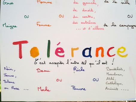 La tolérance, on en parle?