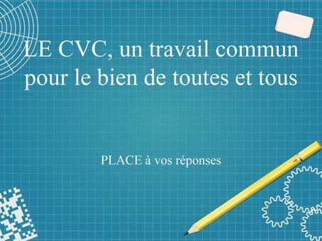 L'enquête du CVC, un sondage pour améliorer les conditions scolaires de toutes et tous