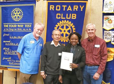 New FV Rotarian, Nadia Mugisha