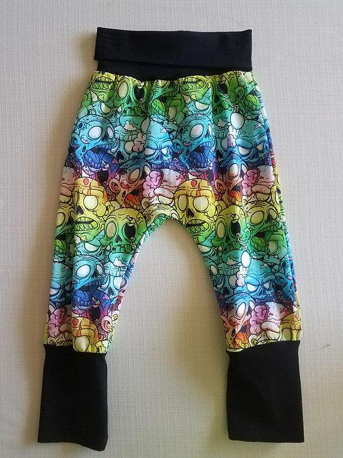 Rainbow Zombies Grow with me Pants - 3/6 Mo to 18 Mo