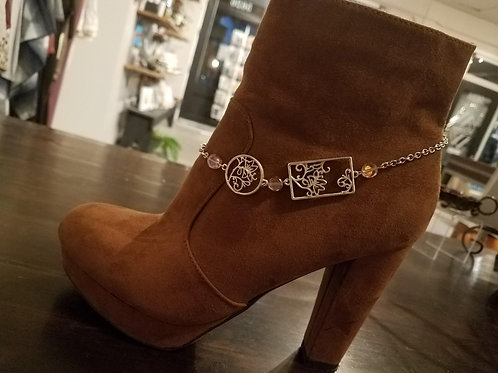 Boot Jewelry with Flowery Scenes