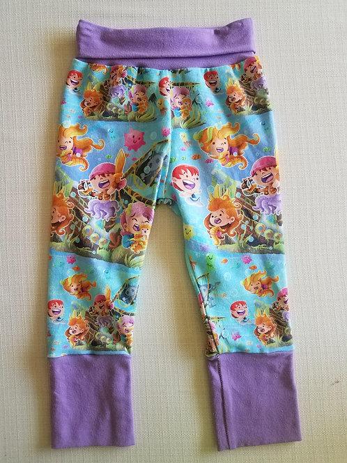 Pirate Mermaids Grow with me Pants - 3/6 Mo to 18 Mo