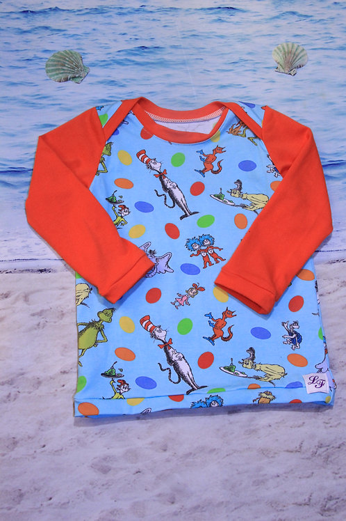 Dr. Suess 2T Long Sleeve Lap Neck Tee
