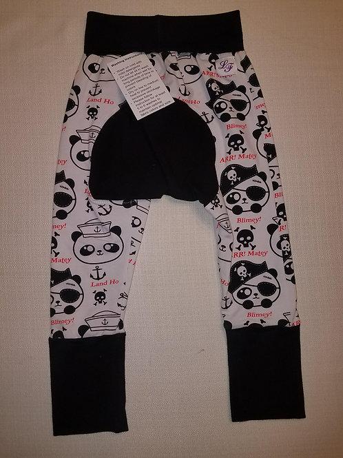 Pirate Pandas Grow with Me Pants - 12 Mo to 4T