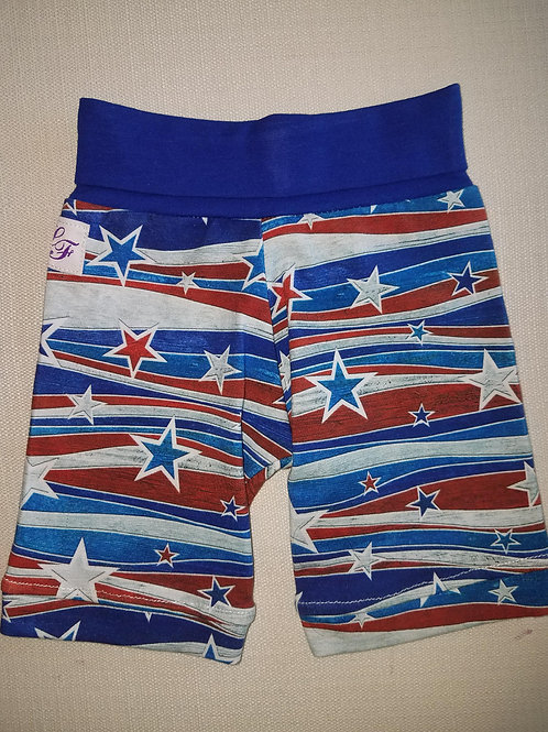 Red White & Blue Stars Shorts - 3/6 Mo to 18 Mo
