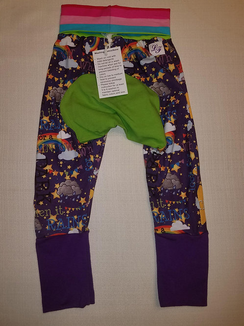 Rainbows in Rain Grow with Me Pants - 12 Mo to 4T