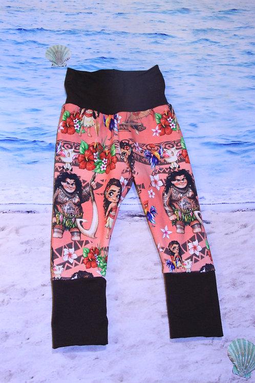 Polynesian Princess Grow with Me Pants - 3/6 Mo to 18 Mo