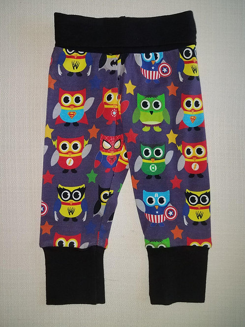 Super Owls Grow With Me Pants - NB to 6 Mo