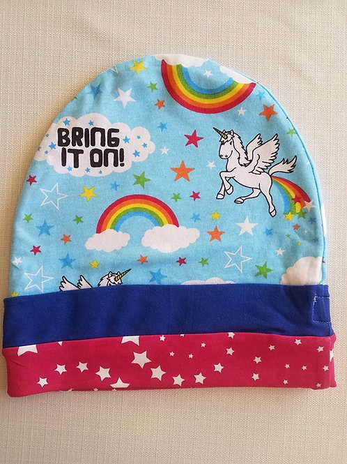Unicorns & Stars Reversible Adult Hat