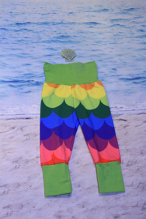 Rainbow Mermaid Grow With Me Pants - NB to 6 Mo