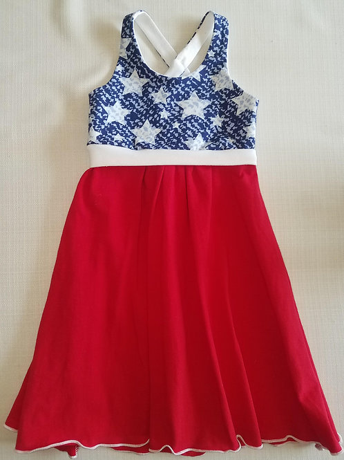 Red White & Blue Stars 2T Dress