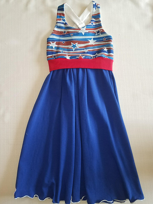 Red White & Blue Stars 4T Dress