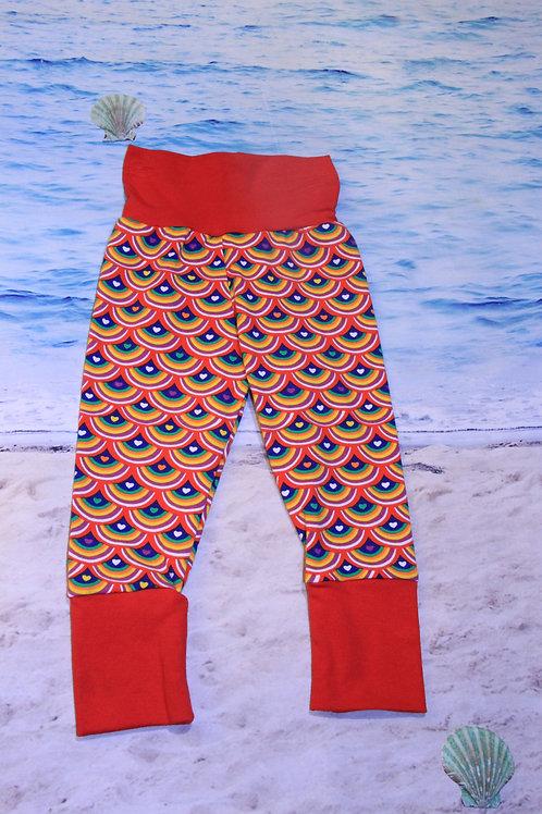 Love Me Rainbow Scales Grow With Me Pants - 3/6 Mo to 18 Mo