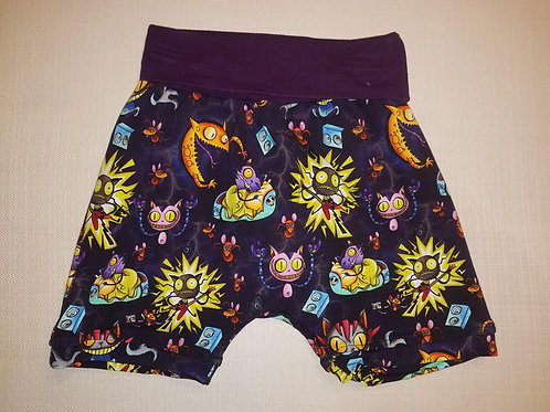 Metal Cats Shorts - 12 Mo to 4T