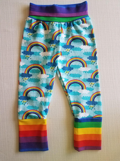 Rainbows Grow with me Pants - 3/6 Mo to 18 Mo