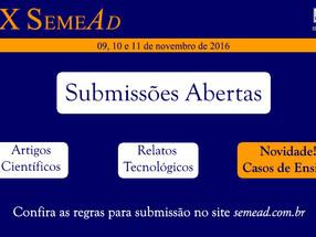 SemeAd 2016 - Chamada de Trabalhos