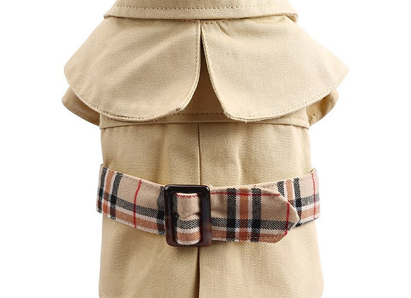 Windproof Trench Coat for Small Dogs