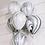 Thumbnail: 136 pc. Set Silver|Marble|White|Silver Confetti