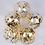 Thumbnail: 228 pc. Black|Gold|Gold Confetti