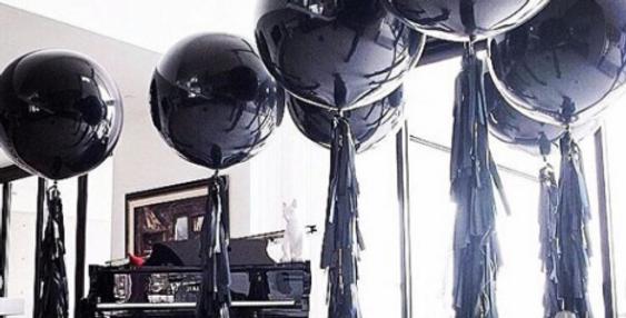 "Black 36"" Latex Balloons"