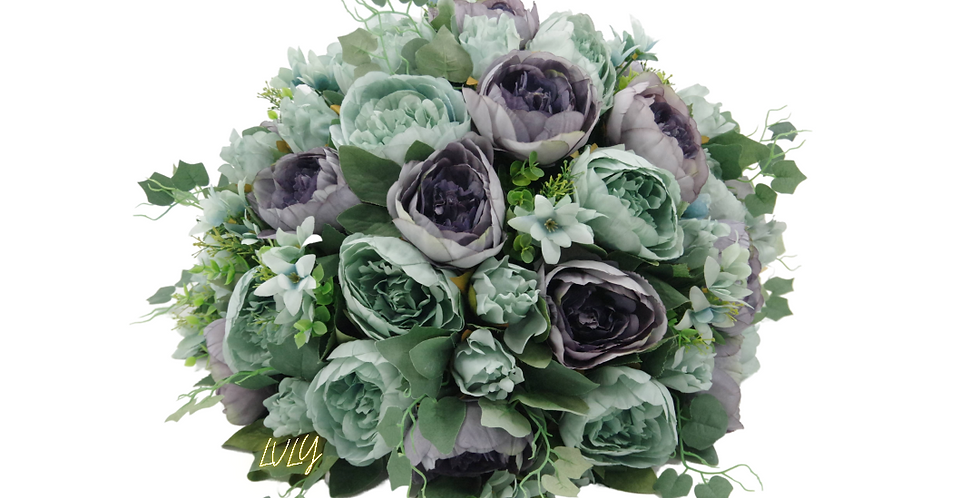 "20"" Peony Flower Ball Purple