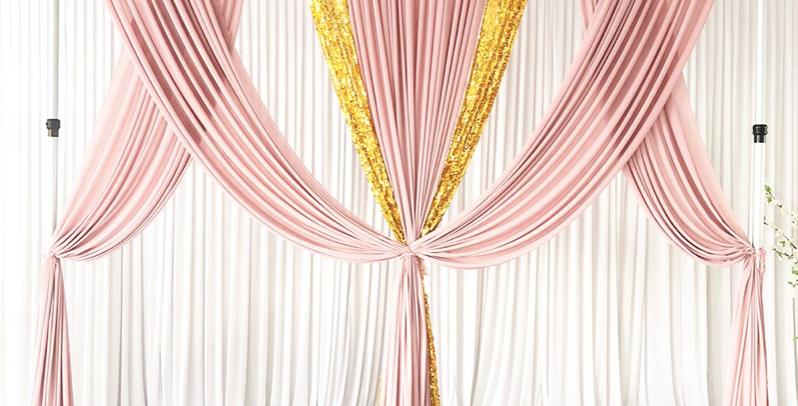 Blush Pink|Gold Sequin