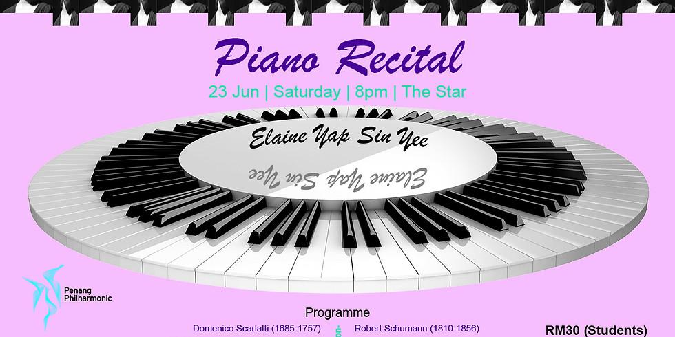 A Piano Recital by Elaine Yap Sin Yee
