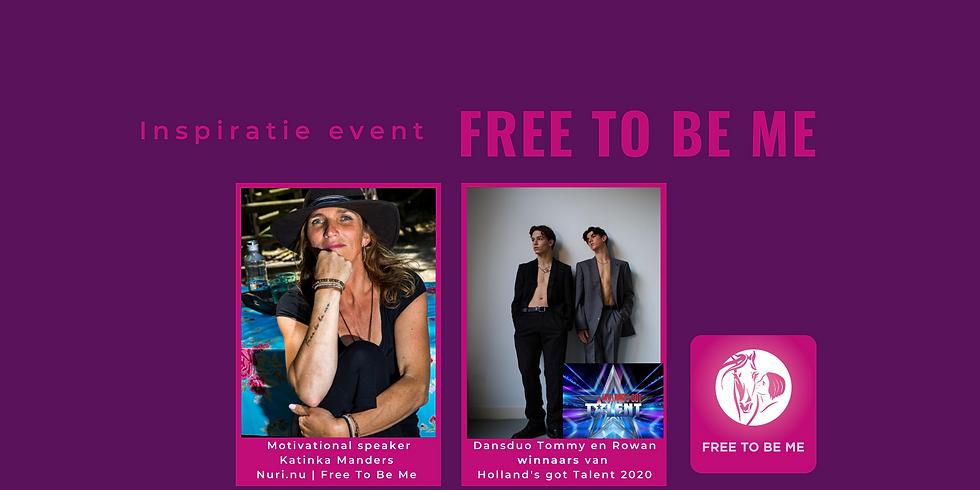 Inspiratie event Free To Be Me - Zaterdag 23 januari 2021