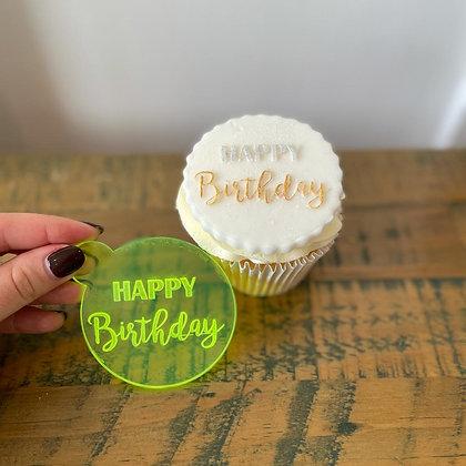 'Happy Birthday' Fondant Embosser Stamp