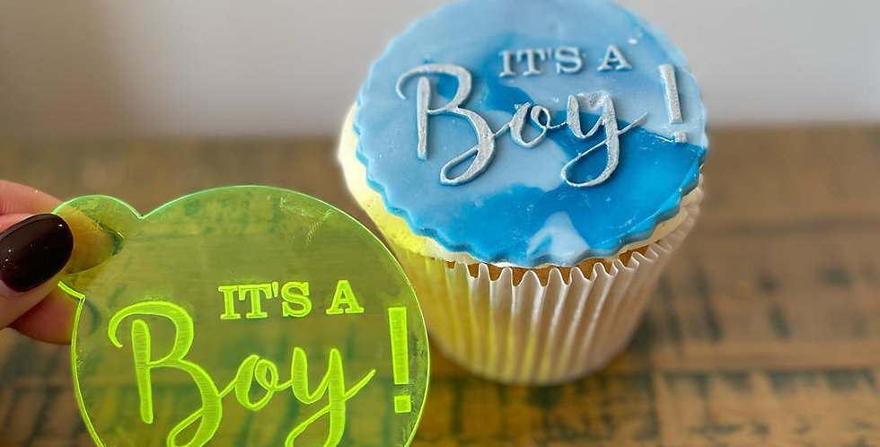 'It's a Boy' Fondant Embosser Stamp