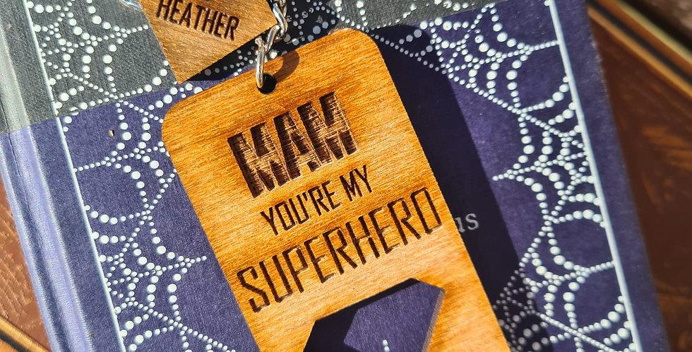 'You're My Superhero' Diamond Keyring
