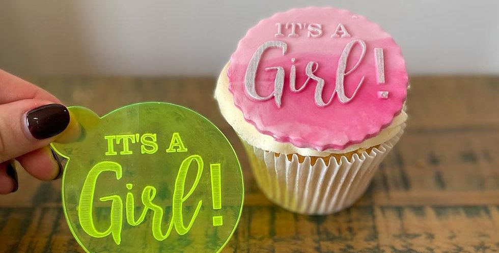 'It's a Girl' Fondant Embosser Stamp
