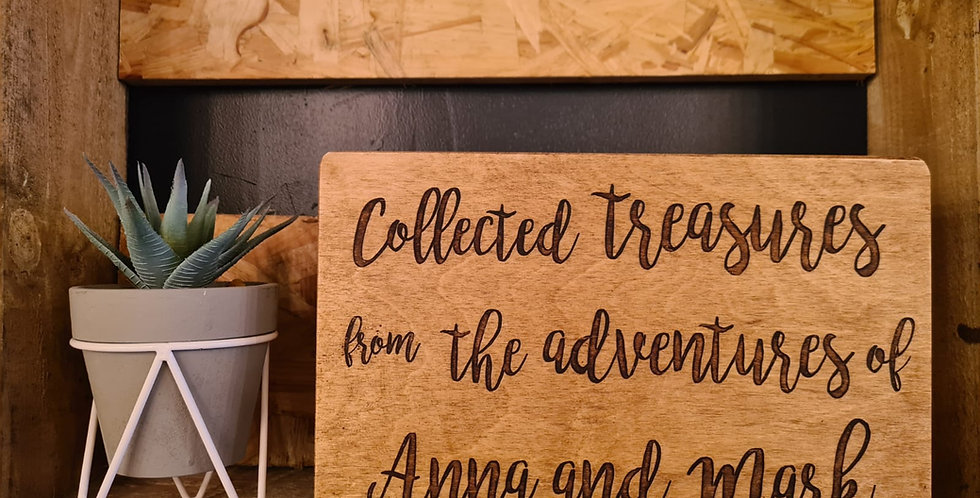 """Collected Treasures"" Couples Keepsake Box"