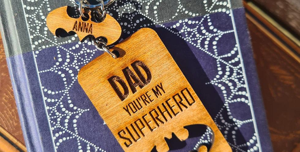 'You're My Superhero' Bat Keyring