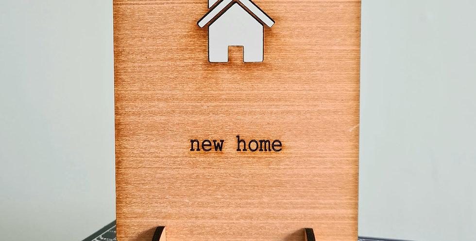 New Home Woodcut Greetings Card