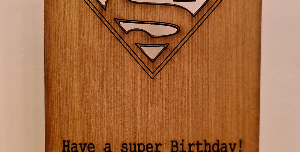 Super Birthday Woodcut Card