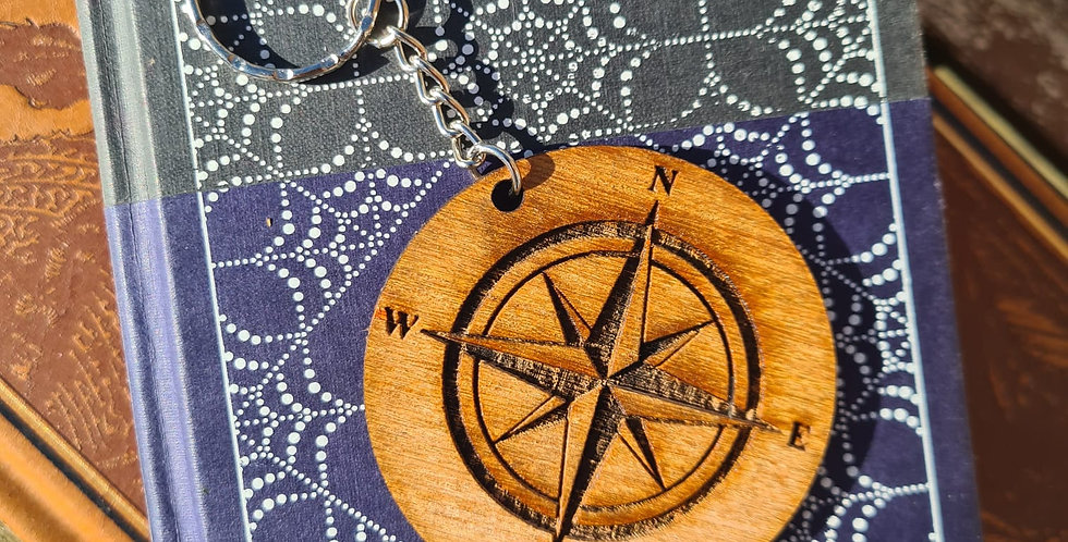 'I'd be lost without you' Compass Keyring