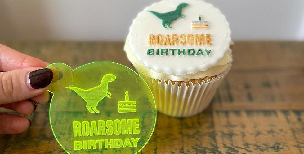 'Roarsome Birthday' Fondant Embosser Stamp