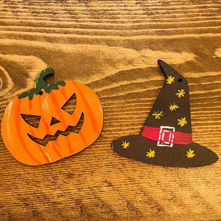 Paint Halloween Decorations (Morning)