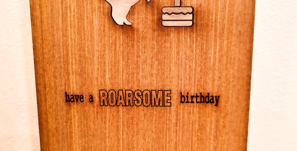 Rawsome Birthday woodcut greetings card