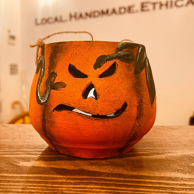 Painting Pottery Pumpkins (Morning)