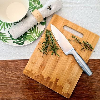 Durham Skyline Bamboo Chopping Board with Handle